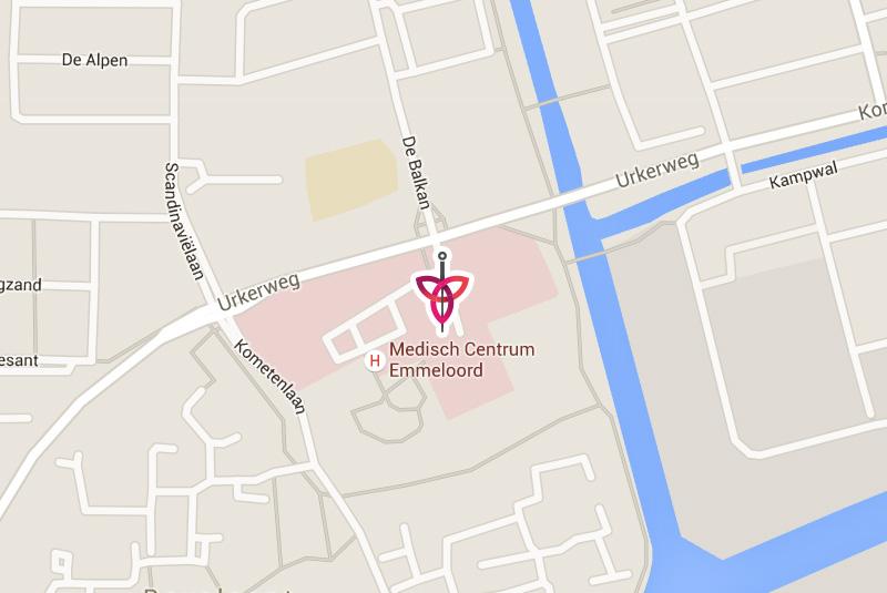 Acupunctuur Emmeloord locatie map